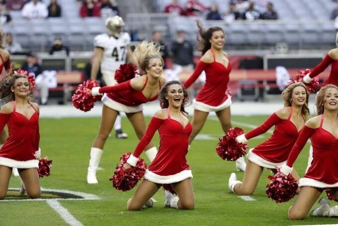 "Une équipe de ""cheerleaders"" aux Etats-Unis."