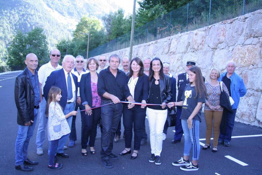 L'inauguration du nouveau parking de 25 places.