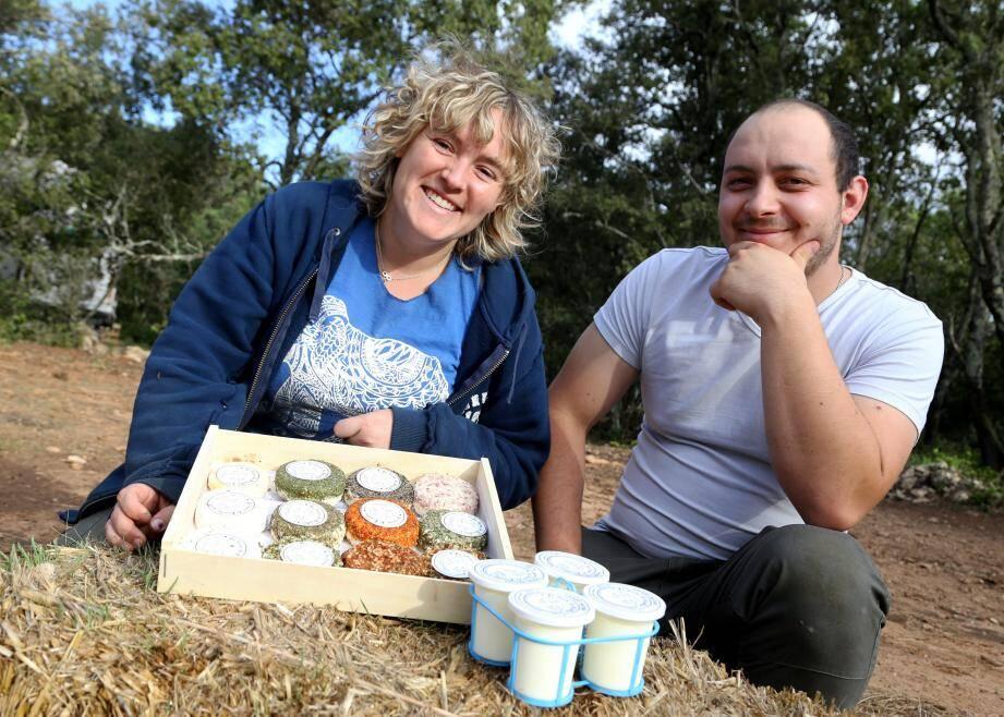 La fête sera une vitrine de l'agriculture paysanne varoise, à l'image  de Stéphanie et Julien Bernardi de Cotignac.