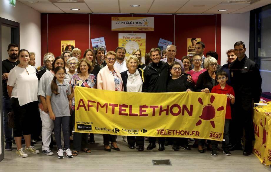 Partenaires et bénévoles du Téléthon Monaco ont lancé l'édition 2019.