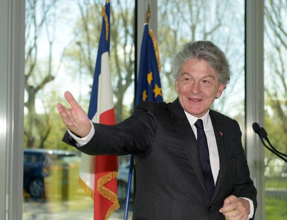 Thierry Breton, PDG du groupe Atos, le 4 avril 2019 à Bezons, près de Paris