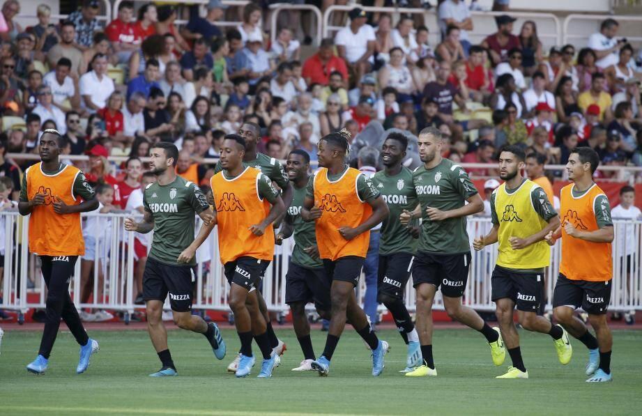 Les joueurs de l'AS Monaco à l'entrainement.