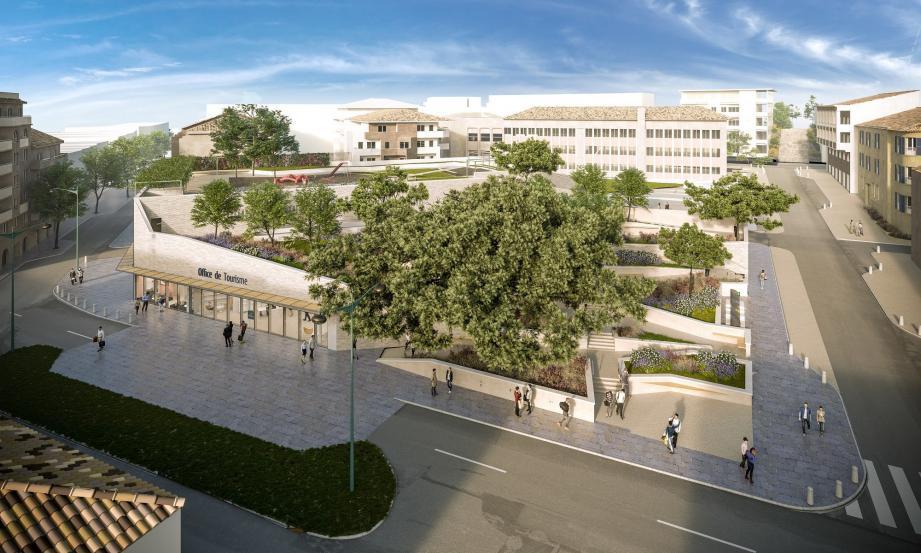 Voilà à quoi va ressembler la future place Louis-Blanc avec l'office du tourisme.