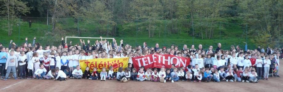 Les enfants de l'école élémentaire ont donné le coup d'envoi du Téléthon.