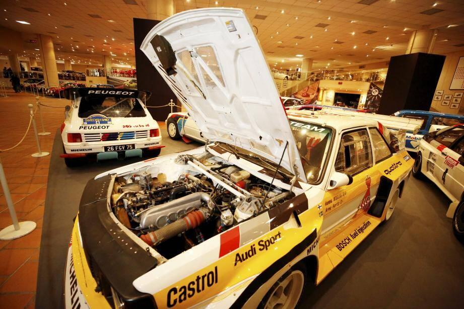 Une cinquantaine de voitures de rallye sont exposées pour trois mois à Fontvieille.