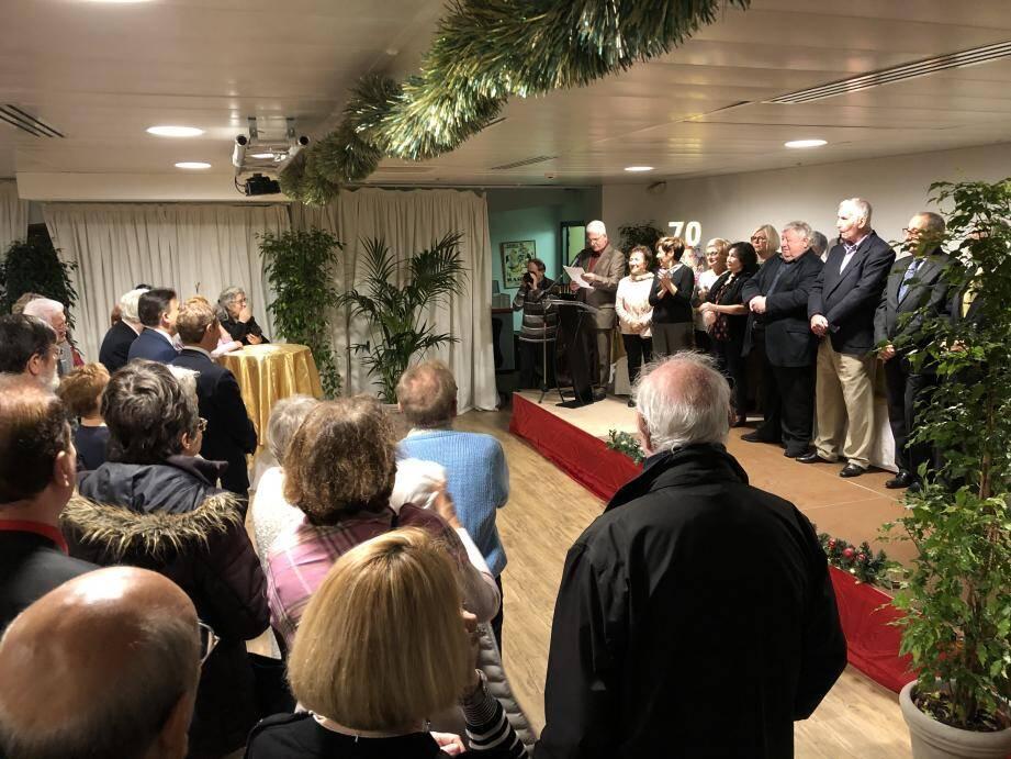 Le conseil d'administration a remercié les quelques 200 invités venus souffler les bougies.