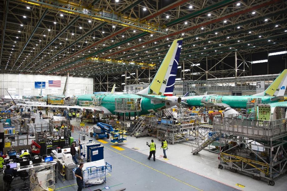 L'usine Boeing de Renton, dans l'Etat de Washington, le 27 mars 2019