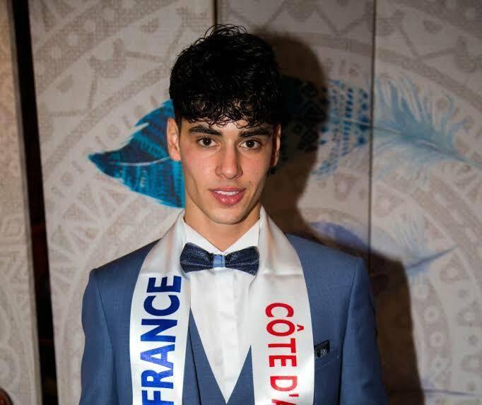 Tom Leroy, 20 ans, Mister Côte d'Azur 2019.