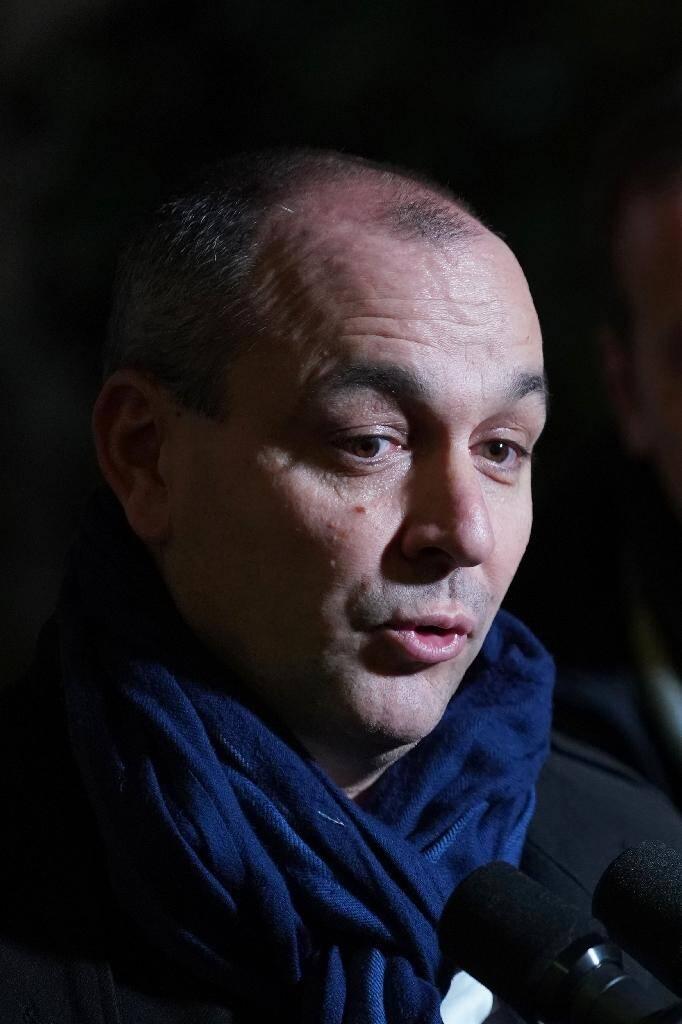 Le dirigeant  de la CFDT Laurent Berger parle à des journalistes, à Paris le 19 décembre 2019
