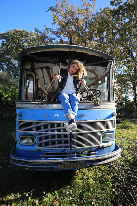 """""""Ce bus était dans un état lamentable... Mais je voyais le potentiel"""", estime Sandy Savary."""