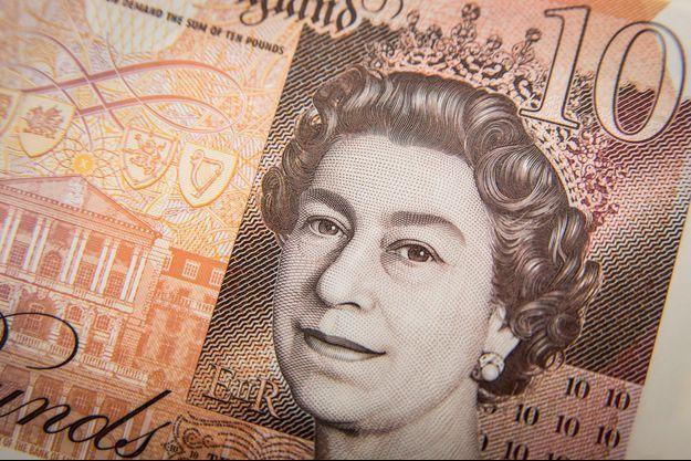 Un billet de 10 livres sterling (photo d'illustration).