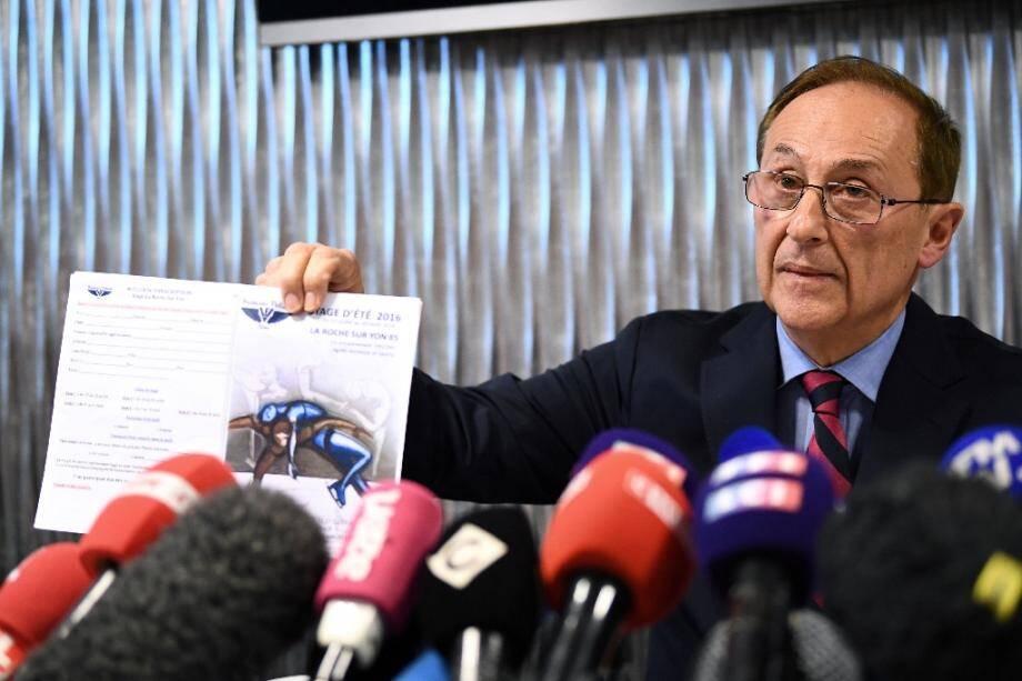Le président de la Fédération des Sports de glace, Didier Gailhaguet, lors d'une conférence de presse, le 5 février 2020 à Paris