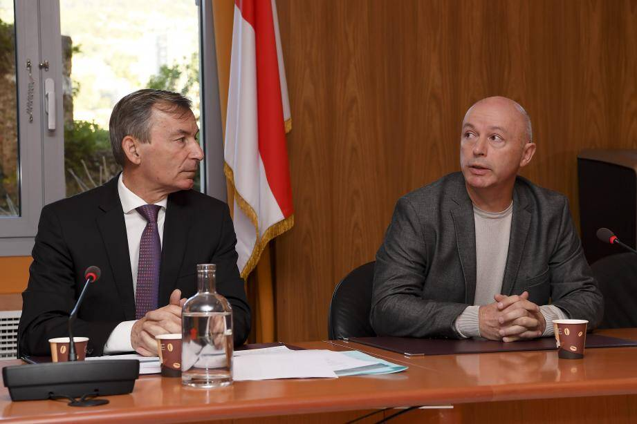 Didier Gamerdinger et le docteur Jean-François Ciais.