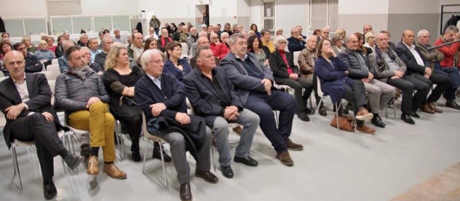 Les élus du secteur présents lors des vœux des conseillers départementaux.