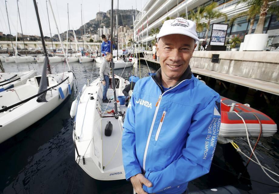 Ludivico Fassitelli, barreur du Yacht-club de Monaco, ambitionne de devenir champion du monde 2021 en Principauté.