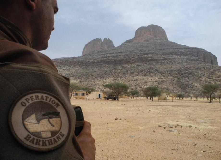 Un soldat français de l'opération antijihadiste française au Sahel, Barkhane, dans la région de Gourma au Mali, le 27 mars 2019.