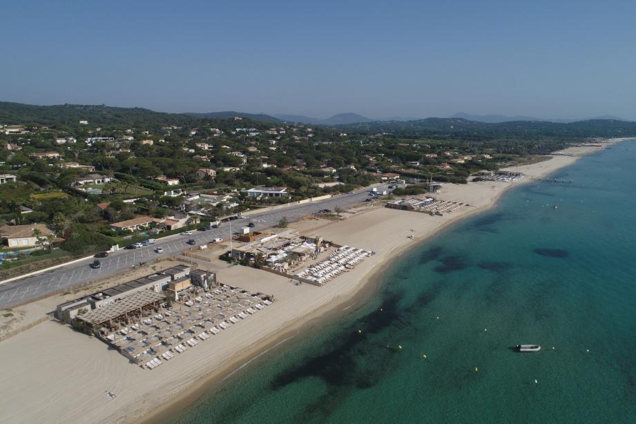 La plage de Pampelonne réaménagée.