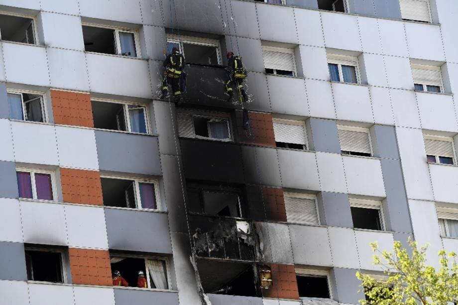Incendie dans un immeuble d'Epinay-sur-Seine, le 15 avril 2020 en Seine-Saint-Denis