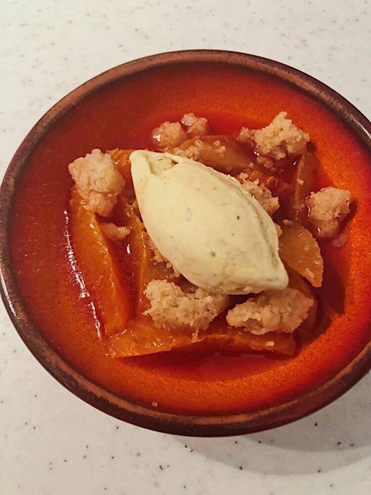 La salade d'oranges sanguines à l'huile d'olive du chef du Château de Berne, Eric Raynal.