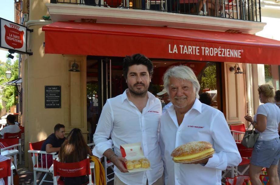 Sacha et Albert Dufrêne perpétuent l'héritage de la tarte tropézienne.