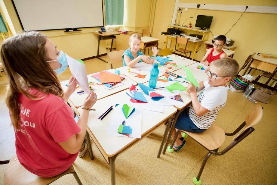 Au total, près de 300 enfants participent au programme «École estivale» mis en place par la Ville.