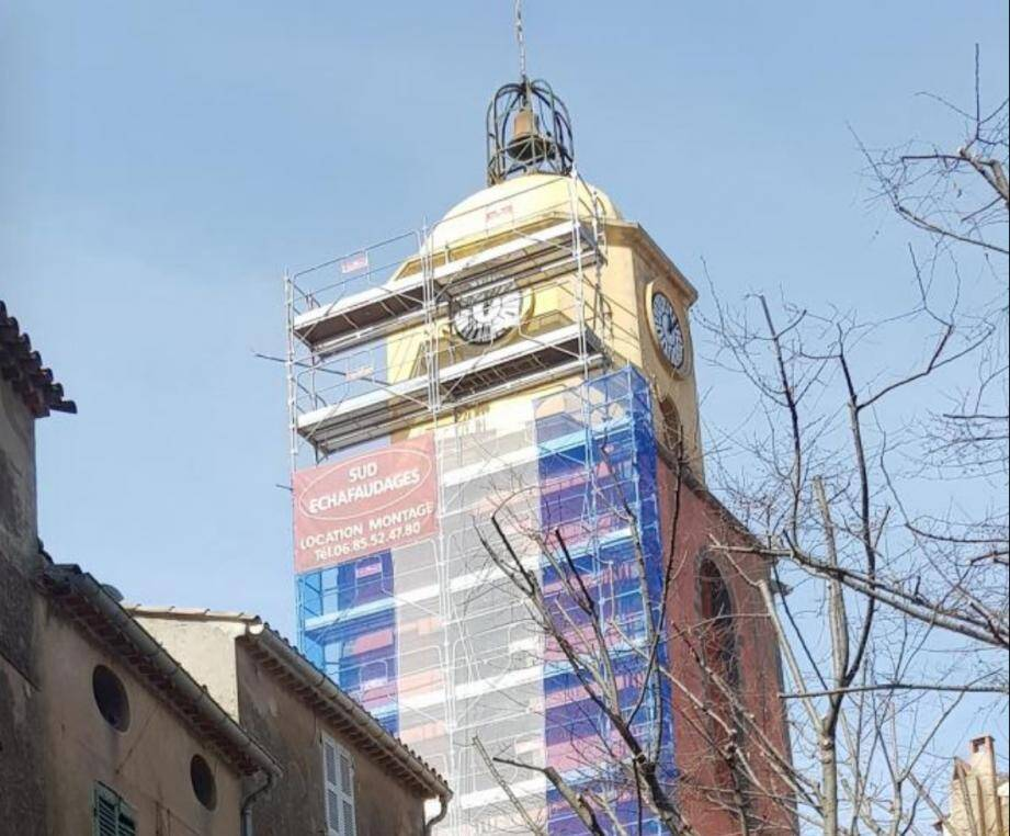 L'échafaudage du clocher a une nouvelle fois été démonté, il y a quelques jours.