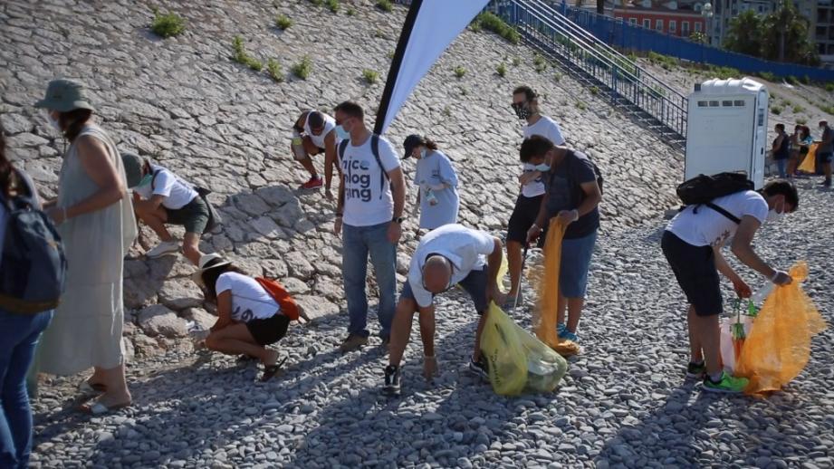 La Nice plogging à Castel plage.