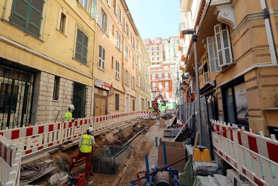 Un premier tronçon de rue est en chantier jusqu'en septembre pour rénover les réseaux.