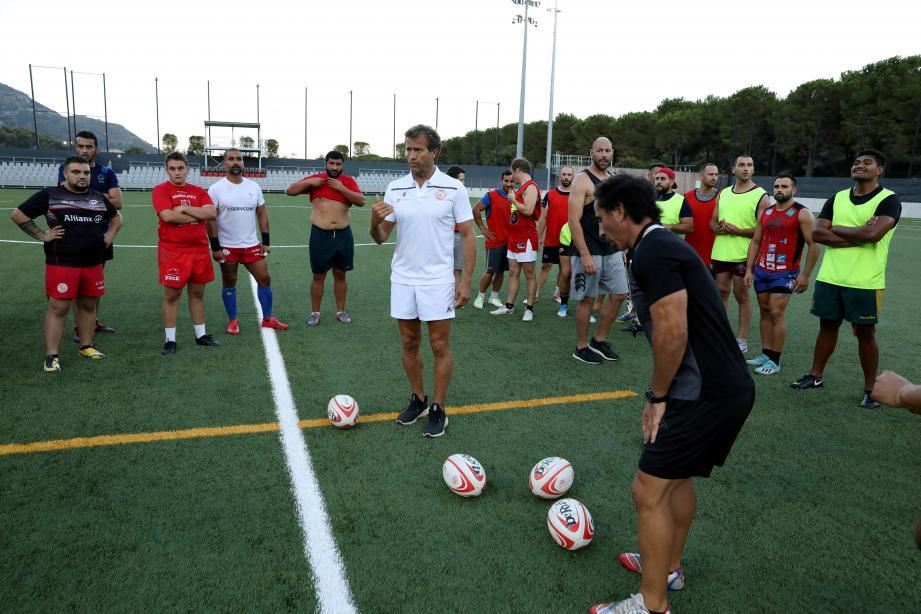 Fabien Galthié a offert un entraînement «made in» XV de France aux joueurs amateurs de l'AS Monaco.