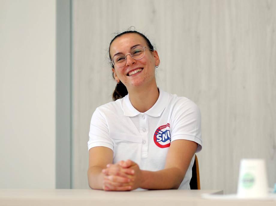 La jeune Six-Fournaise effectue sa mission de volontariat au sein du comité départemental olympique et sportif.