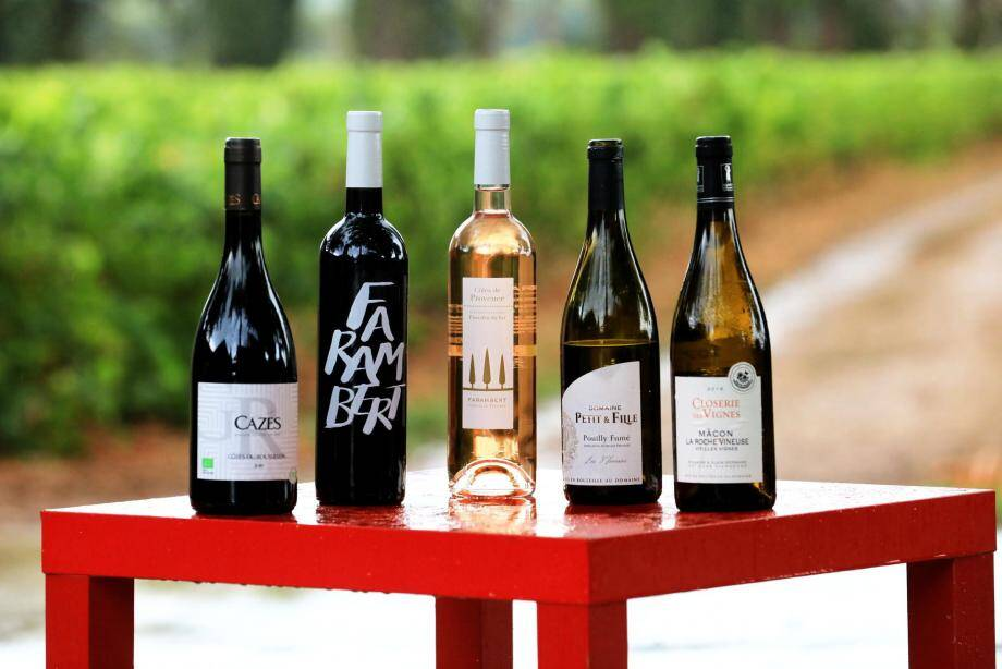 Les 5 vins qu'ils ont élus.