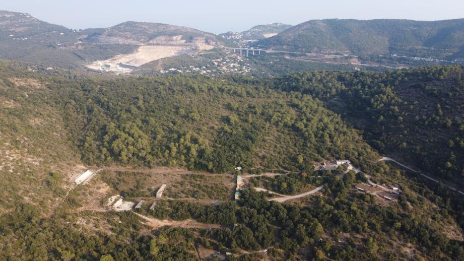 Le site de La Lare sur la commune de Peillon.