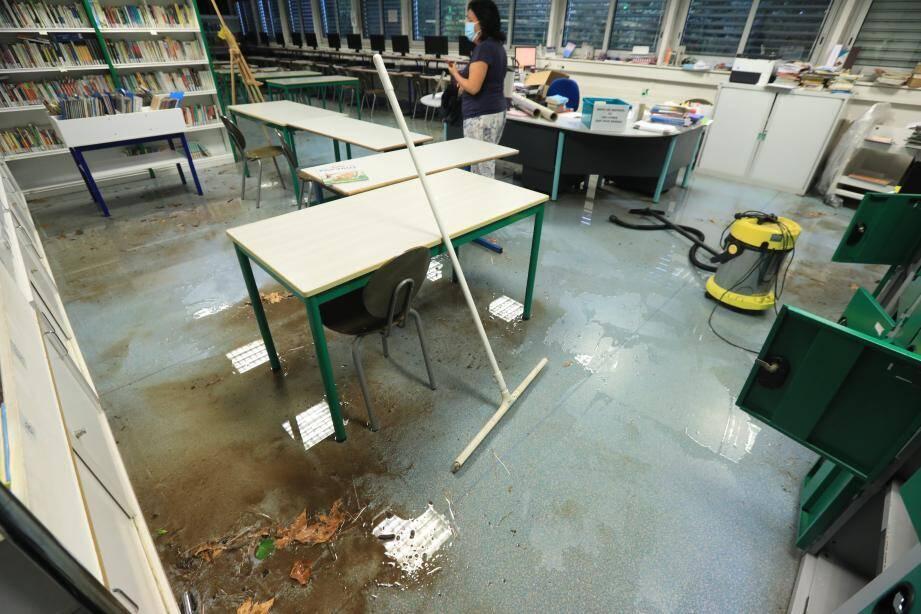 Les dégâts sont importants dans les locaux du collège.