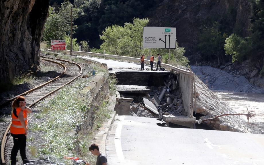 La basse vallée de la Tinée n'a pas été épargnée.
