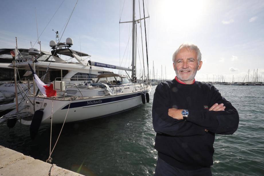 À 61 ans, Pierre-Henry Mahul va tenter de réaliser un tour du monde sans escale et en solitaire à la barre du Michaella de Bandol.