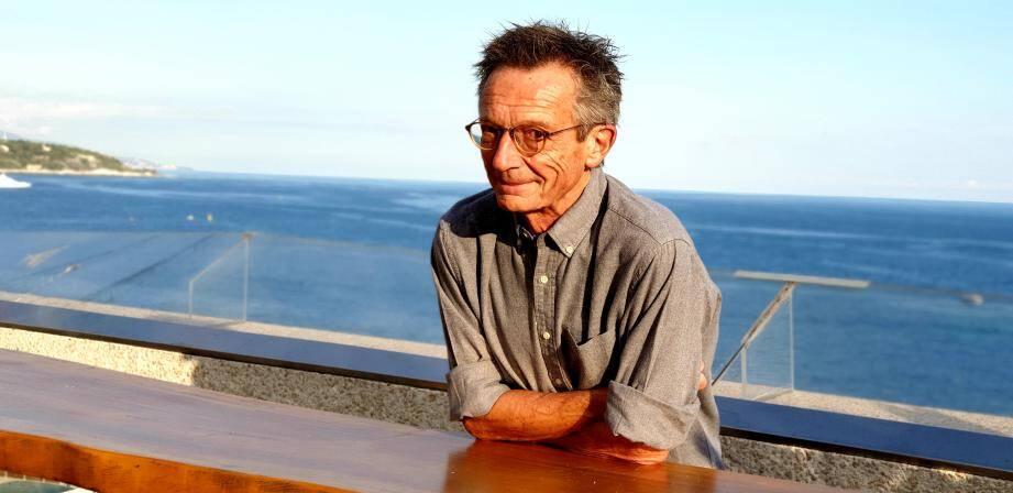 Le cinéaste sur la terrasse de l'hôtel Fairmont Monte-Carlo, samedi.
