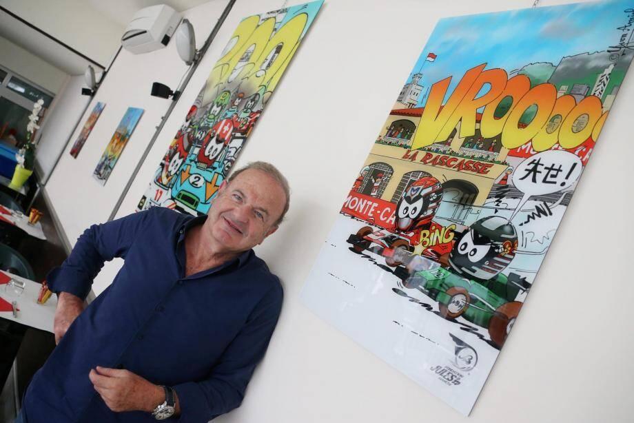 """""""J'avais très envie de dessiner Charles"""", avance Yvon Amiel pour expliquer le retour d'Antoine le pilote au Grand Prix de Monaco."""