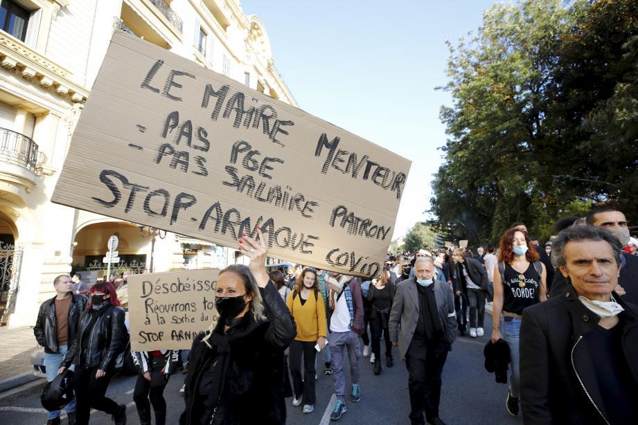 La manifestation, qui avait été autorisée par la préfecture, s'est déroulée dans le centre-ville de Nice.