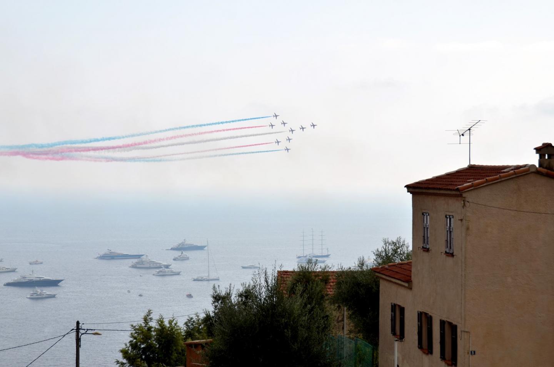 La patrouille acrobatique de la Royal Air Force était invitée à célébrer les 10 ans de la société britannique Superyacht UK.