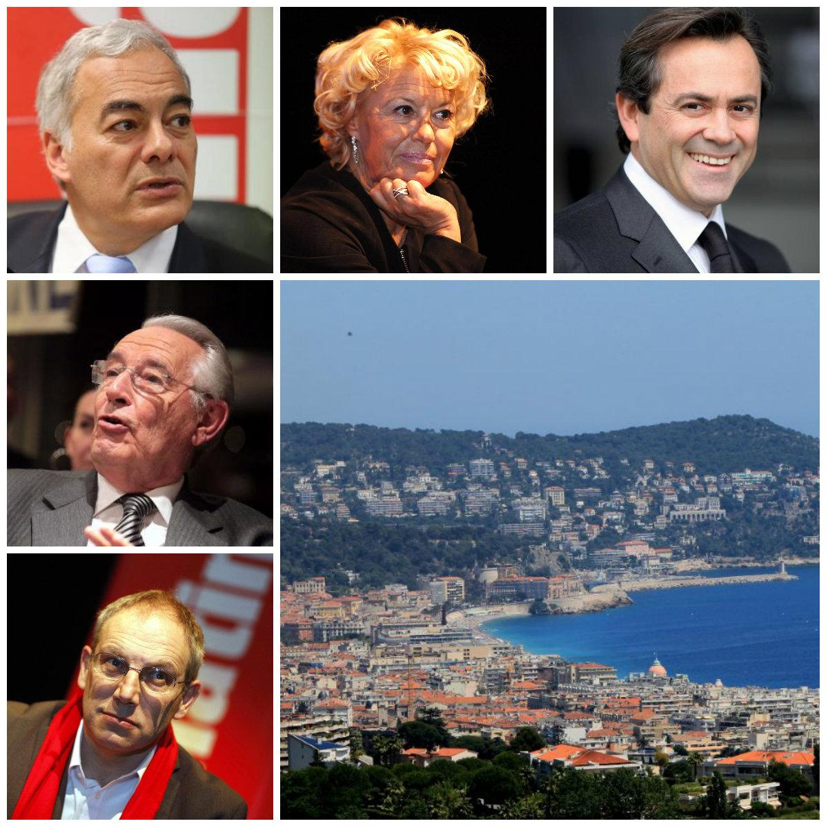 Patrick Allemand, Marie-Christine Arnautu, Olivier Bettati, Jacques Peyrat et Robert Injey