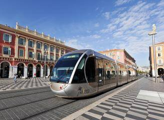 Illustration tramway à Nice
