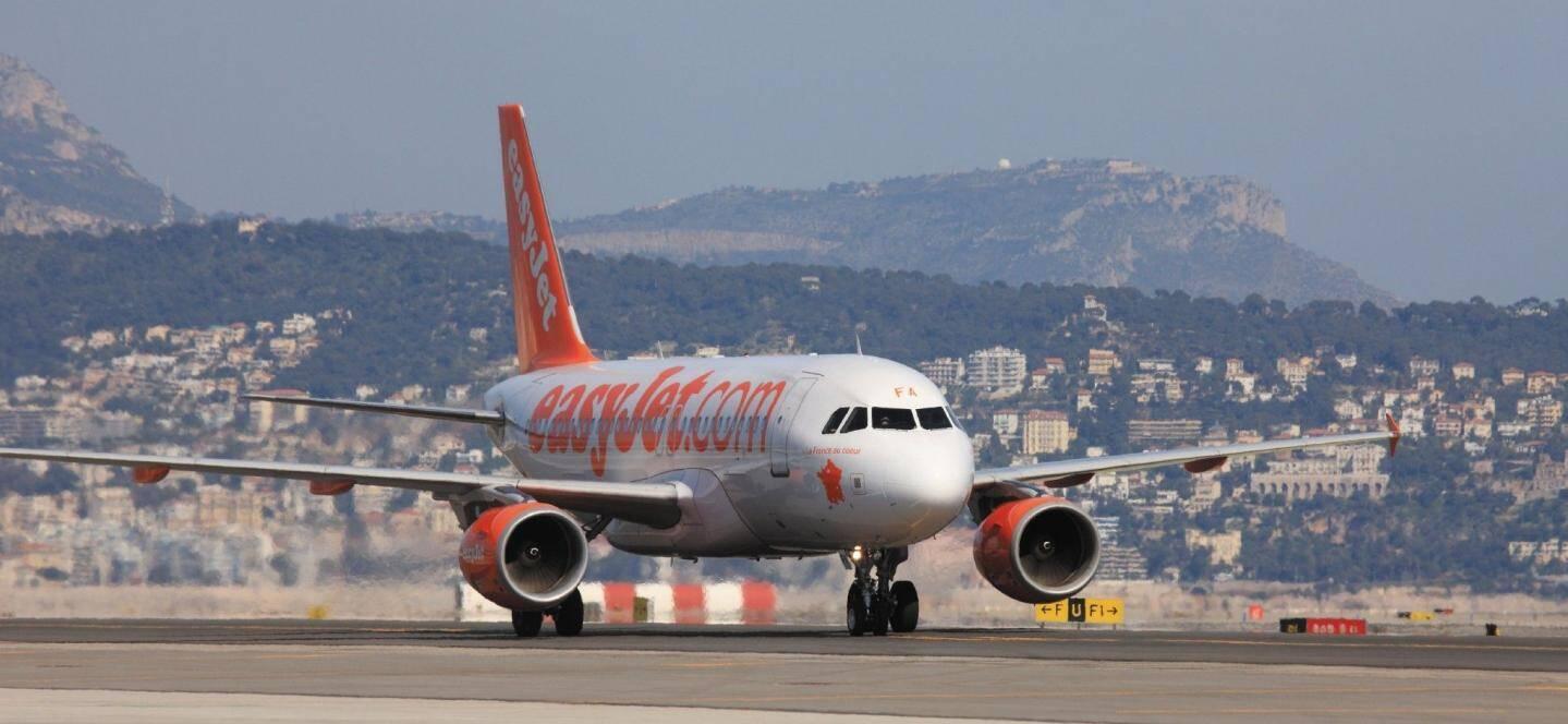Un avion EasyJet à Nice