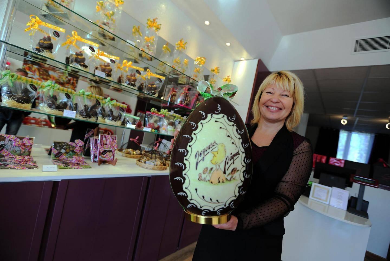 «Nos chocolats sont 100 % pur beurre de cacao et sans huile de palme», précise Véronique Serré.