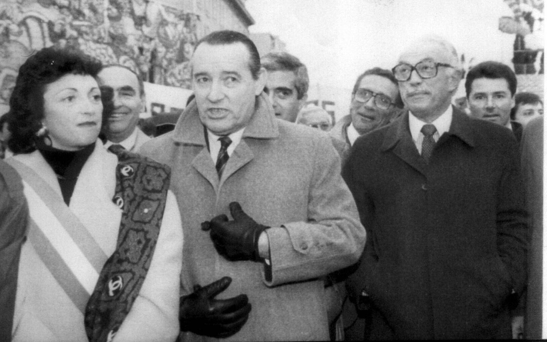 Martine Daugreilh, Jacques Peyrat et Jacques Médecin.