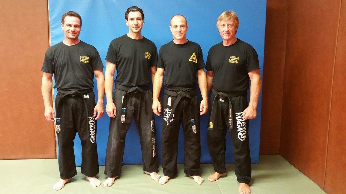 Trois Vallauriens sont devenus ceinture noire de krav maga, dimanche dernier.(DR)