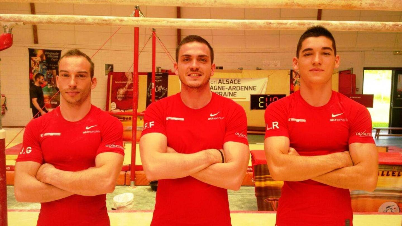 De gauche à droite: Julien Gobaux, Yann Franc de Ferrière et Loris Racca au tournoi international de Sarreguemines. Julien saura dans quelques jours s'il obtient son billet pour les Jeux Olympiques de Rio.