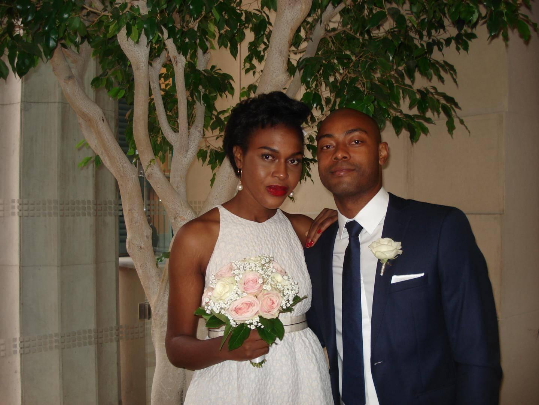 Dina Ntsiyanda-Santy,professeur de français, et Henri Rakotomamonjy, étudiant.