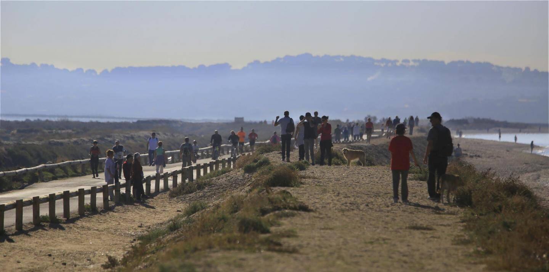 Fermée jusqu'en avril prochain, la route du sel fait le bonheur des promeneurs. À pied, à vélo ou encore en trottinette, l'Almanarre est le lieu idéal pour s'évader.