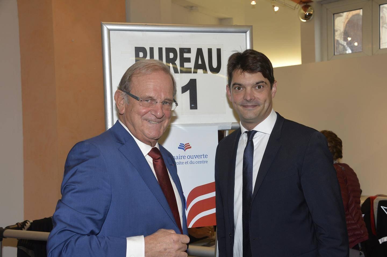 Jean-Pierre Leleux et Jérôme Viaud ont voté à Grasse ce dimanche