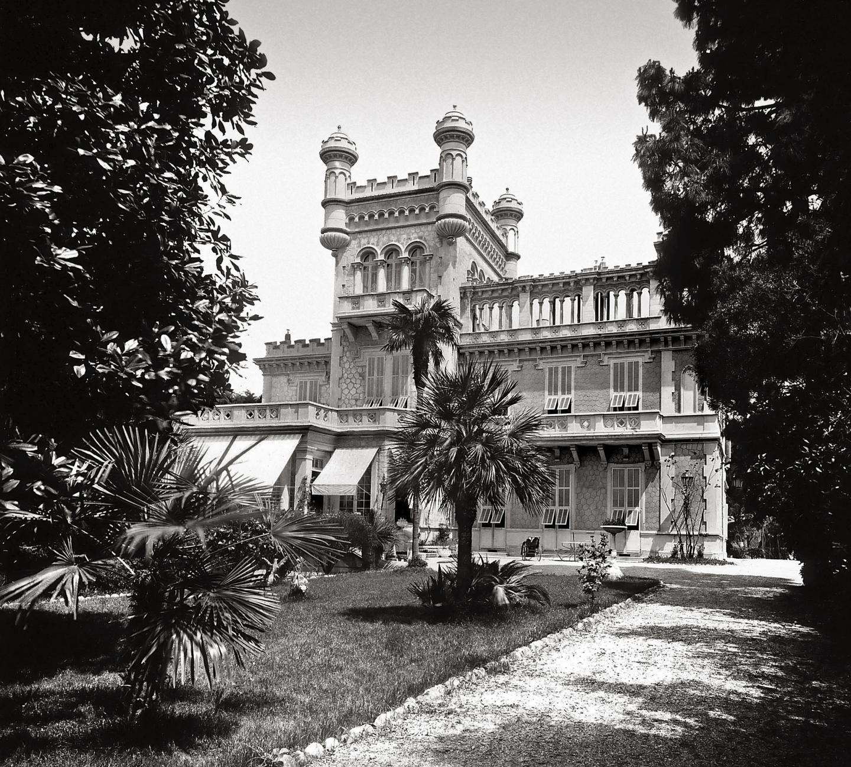 Le château des Ollières dans le quartier des Baumettes à Nice.